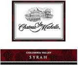 CHATEAU STE. MICHELLE COLUMBIA VALLEY SYRAH 2012