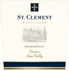 ST. CLEMENT VINEYARDS NAPA VALLEY CHARDONNAY 2012